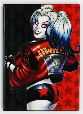 Harley Quinn Owned FRIDGE MAGNET Batman Joker Suicide