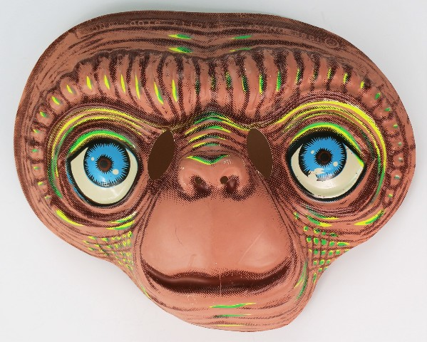 Vintage E T Extra Terrestrial Halloween Mask Universal