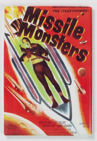 Missile Monsters Movie Poster FRIDGE MAGNET 1950s Sci Fi