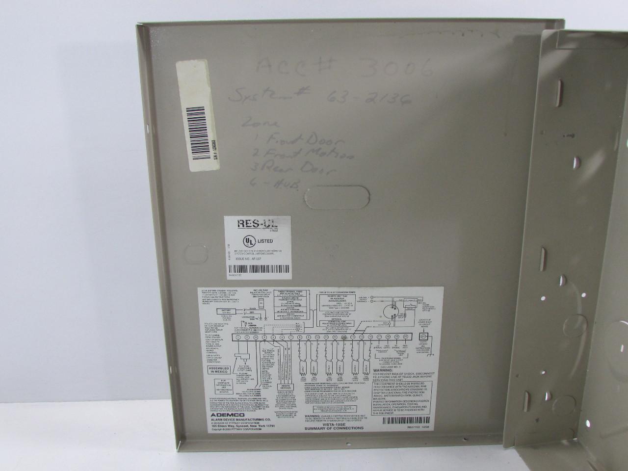 ademco vista 10p wiring diagram pa setup control