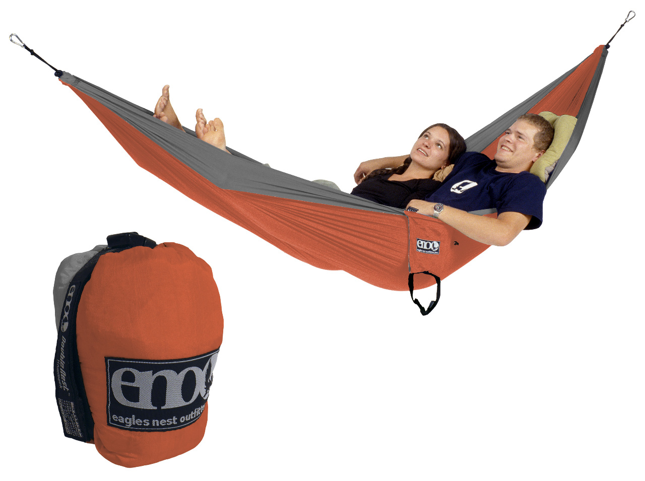 Eagles Nest Outfitters Eno Doublenest Hammock Orange Grey