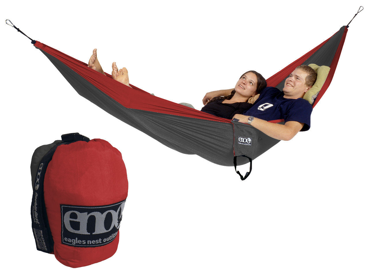 Eagles Nest Outfitters Eno Doublenest Hammock Red Charcoal