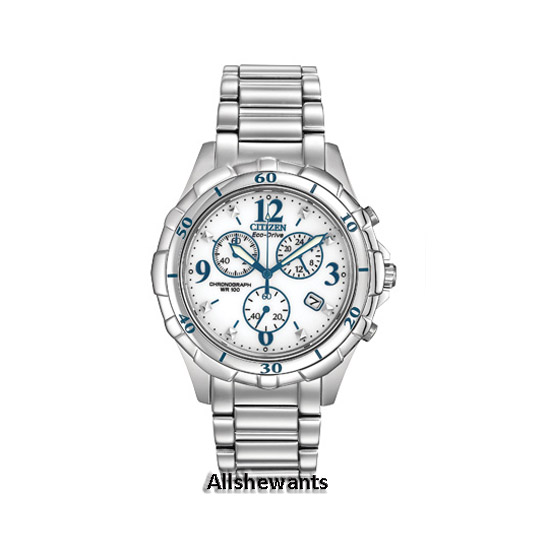 NEW CITIZEN ECO-DRIVE WATCH for WOMEN * Chronograph