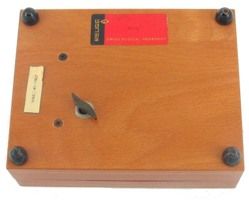 VINTAGE WALNUT REUGE SWISS MUSIC BOX INLAID WOOD FREE