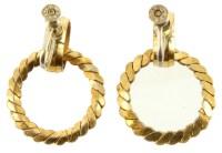 Vintage Sterling Gold Vermeil Dangle Circle Hoop Screw ...