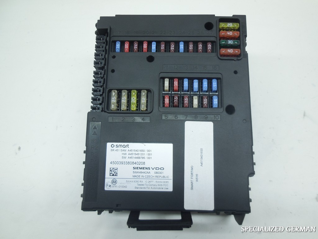 Smart 451 Fuse Box Auto Electrical Wiring Diagram
