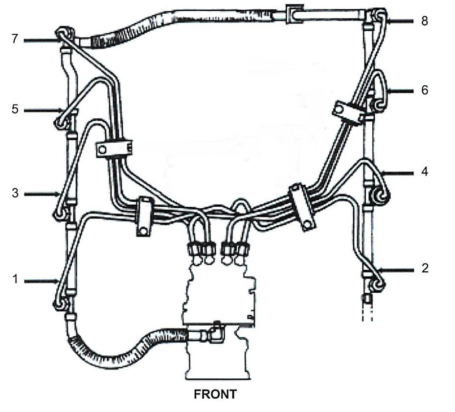 6.9L / 7.3L Diesel Fuel Injection Line kit Includes 8