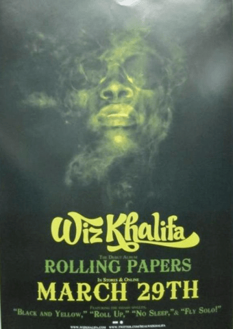 details about wiz khalifa 2011 rolling papers promotional poster flawless new old stock