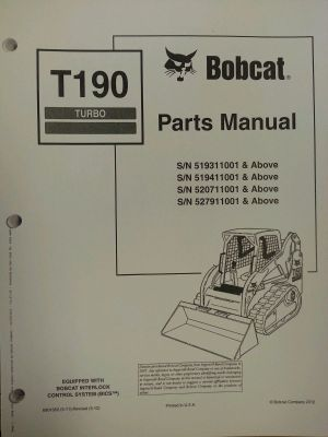 Bobcat T190 Turbo Skid Steer Parts Manual Book 6901352 | Finney Equipment and Parts