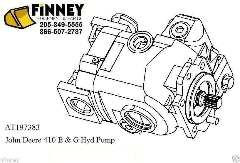 AT428960 John Deere Loader Backhoe 410E 410G Hydraulic