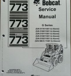 bobcat 773g skid steer loader service manual turbo book form 6900834 finney equipment and parts [ 900 x 1200 Pixel ]
