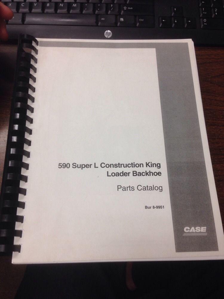 Case 590 Super L 590SL Loader Backhoe Parts Manual book