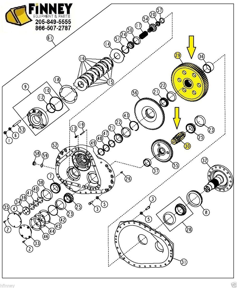 John Deere 700H 700J 700 H J Dozer Final Bull Gear
