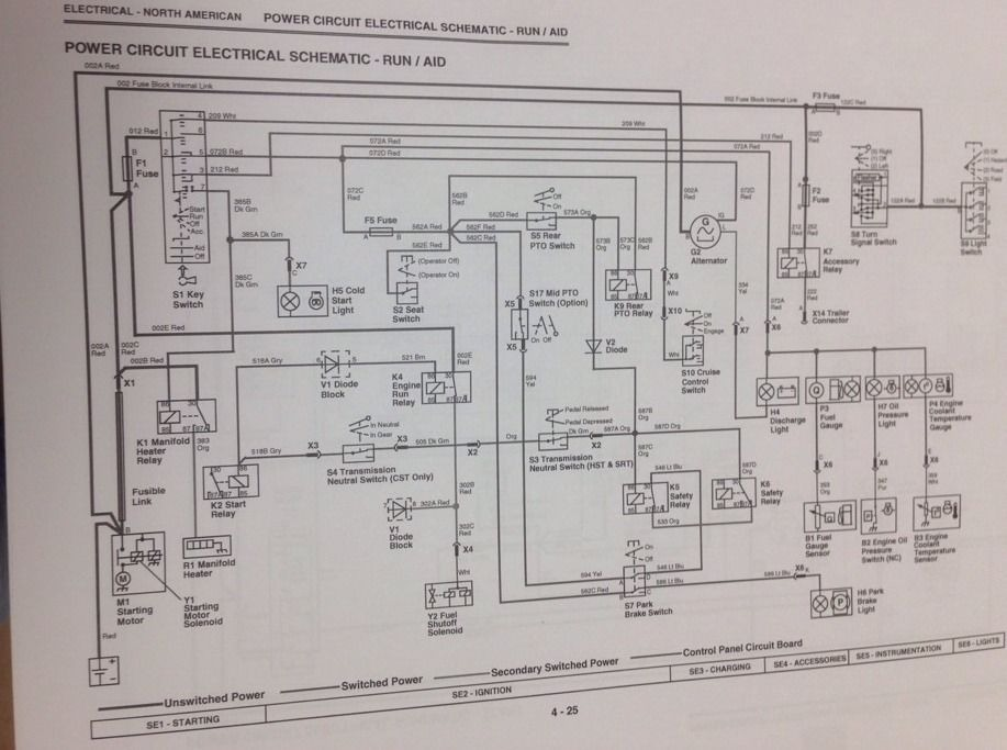 john deere 4400 wiring diagram