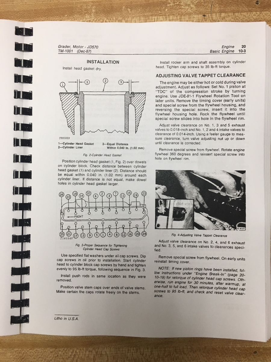 John Deere JD 570 570A Motor Grader service repair tech shop manual TM1001  Finney Equipment