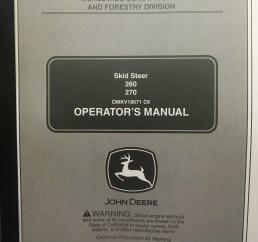 john deere 260 270 skid steer operators manual jd omkv18671 book finney equipment and parts [ 3024 x 4032 Pixel ]