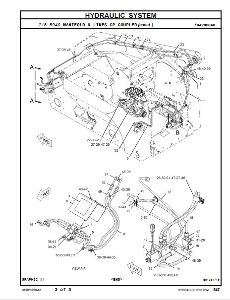 Caterpillar 236B 246B 252B 262B Skid Steer Loader Parts