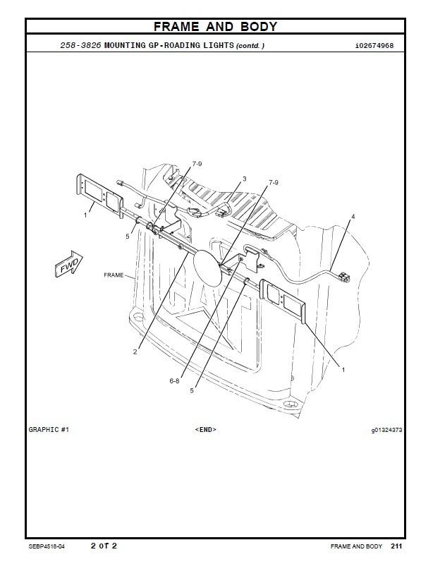 Caterpillar 297C Multi Terrain Loader Parts Manual CAT