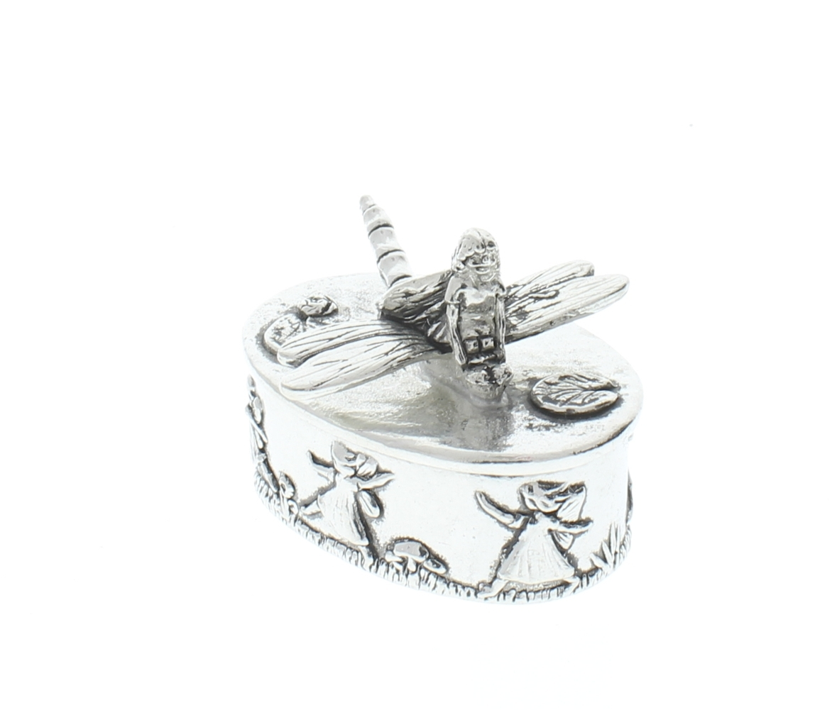 A E Williams Pewter Tiny Trinket Wee Box Tooth Fairy On A