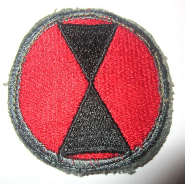 Original Wwii Ww2 U. Army 7th Infantry Division Khaki