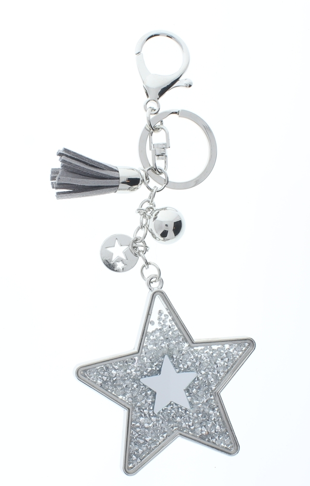Rhinestone Bling Shooting Star with Silver Tone Accents