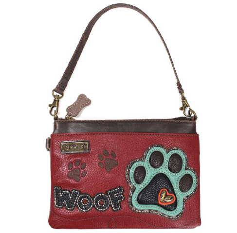Charming Chala Puppy Dog Paw Print Woof Mini Crossbody Bag