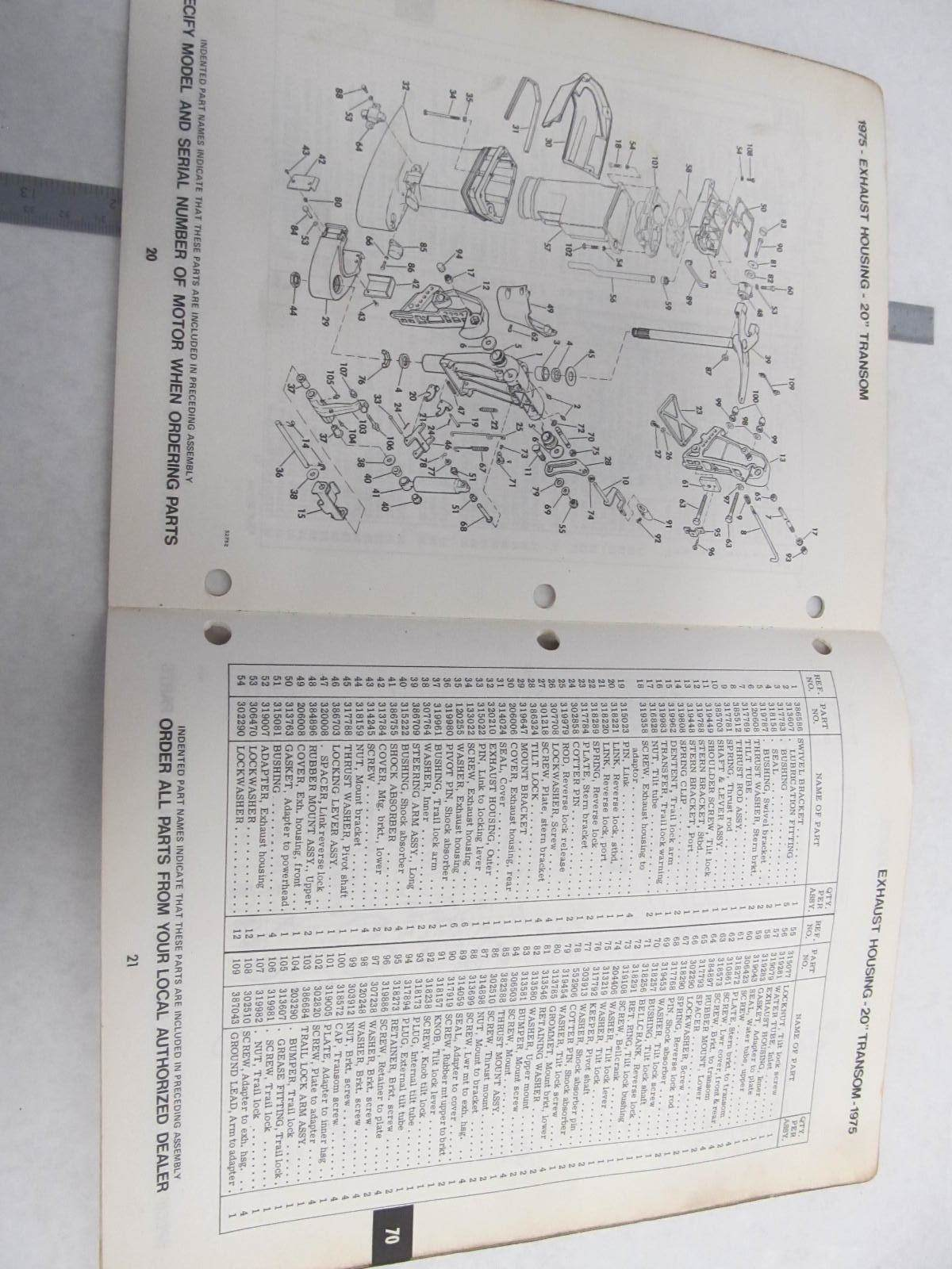 1975 evinrude 70 hp wiring diagram cross section spinal cord labeled 279802 outboard models parts catalog