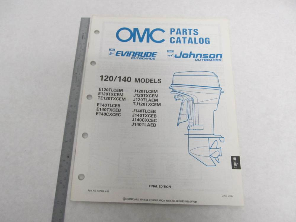 medium resolution of  omc 120 engine diagram 432896 omc evinrude johnson 1989 outboard 120 140 hp parts