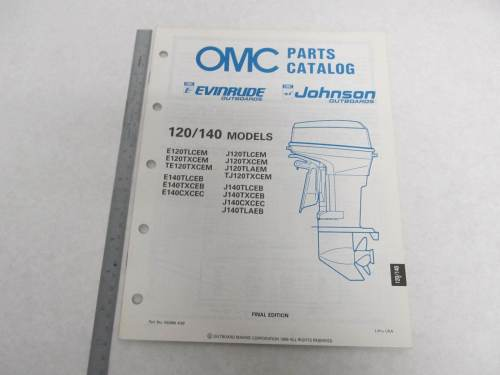 small resolution of  omc 120 engine diagram 432896 omc evinrude johnson 1989 outboard 120 140 hp parts