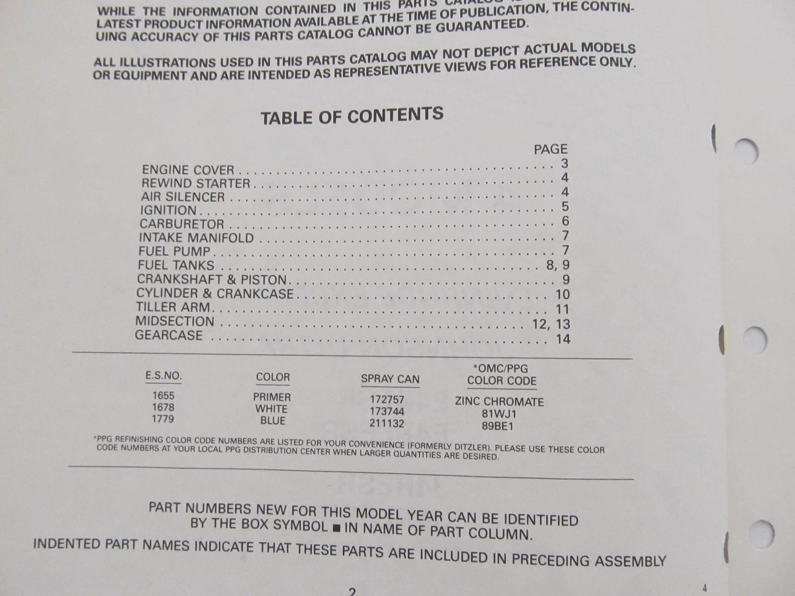 Omc Evinrude Johnson Outboard Parts Catalog 4