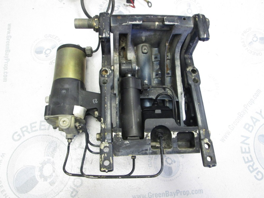 medium resolution of force 45 50 hp outboard power trim tilt pump transom clamps ebay