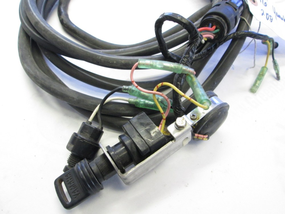 medium resolution of yamaha outboard 16 ft engine to dash key switch wire harness to motor