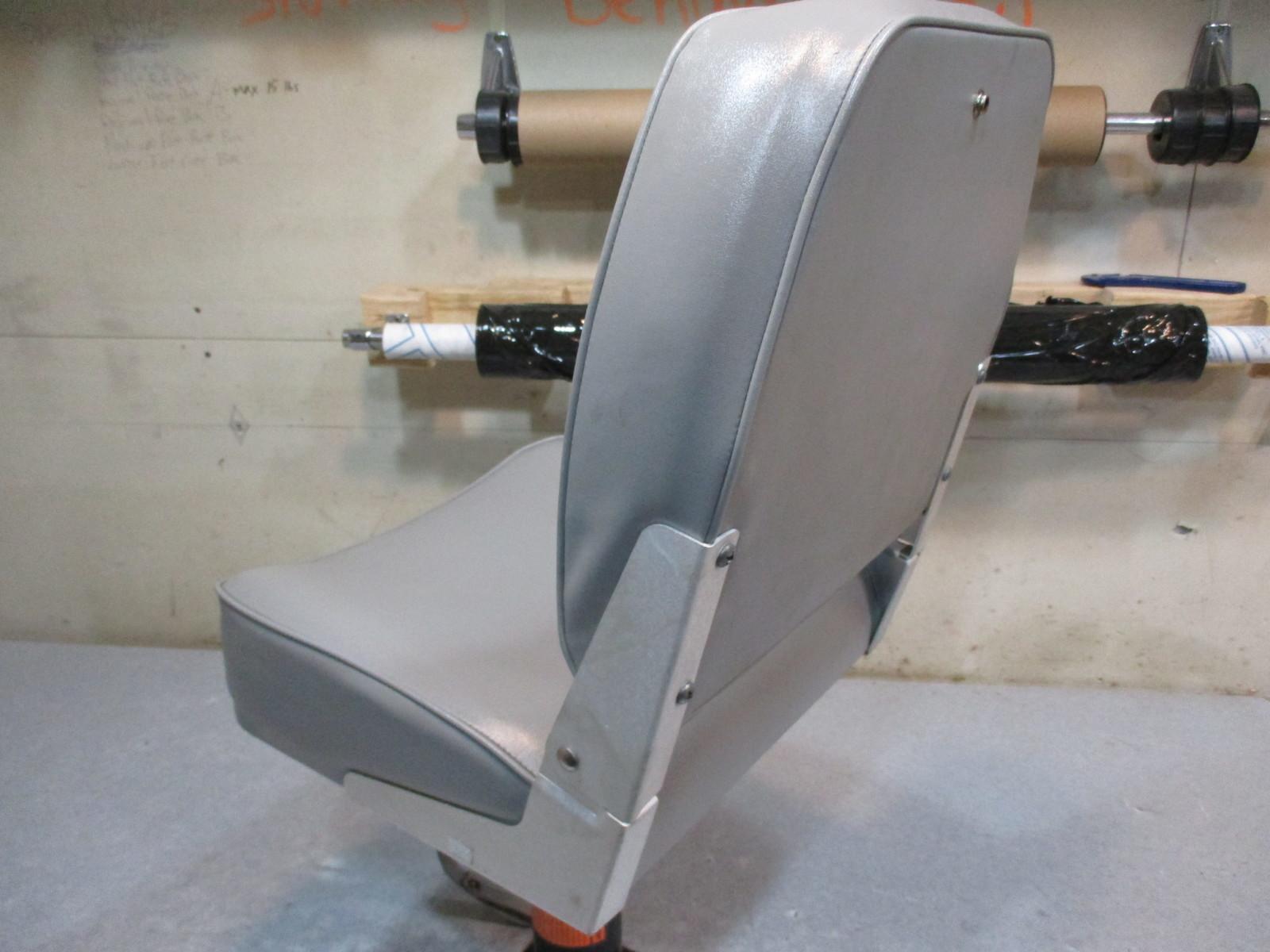 Marine Boat Folding Grey Seat With Swivel Pedestal