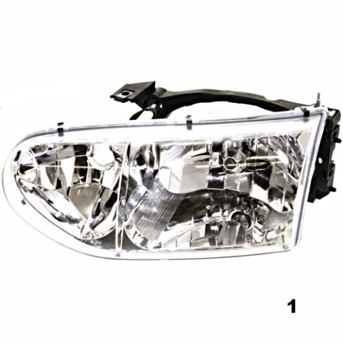 FITS 99-00 NISSAN QUEST LEFT DRIVER HEADLAMP ASSEMBLY