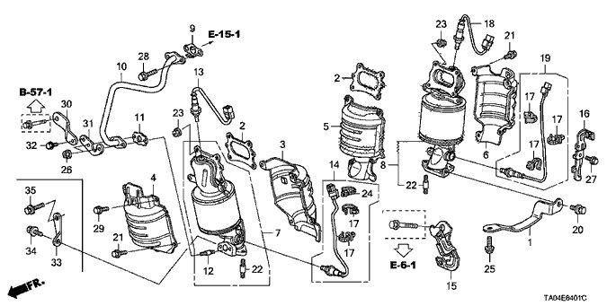 Honda Accord 08-12 Front Bottom O2 Oxygen Sensor 3.5L 6