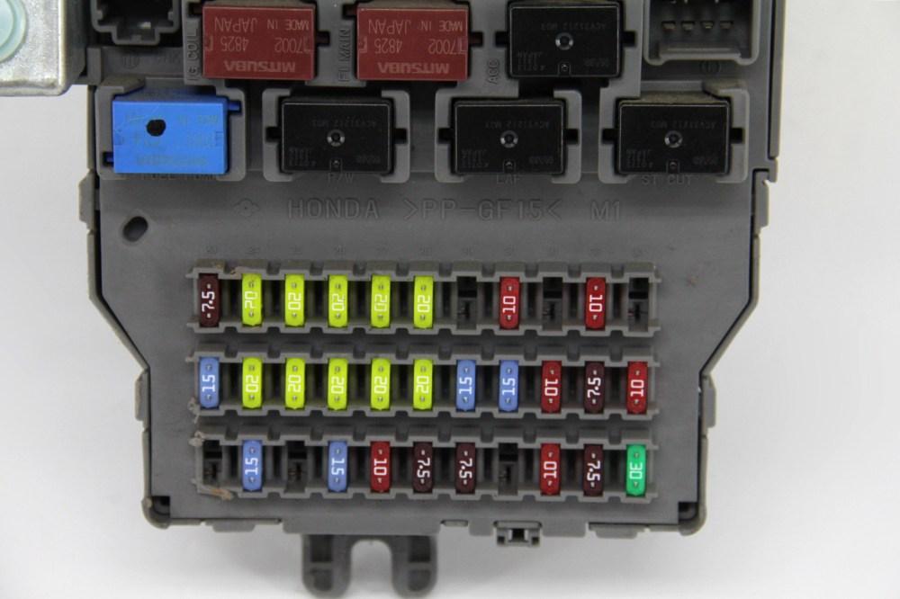 medium resolution of honda odyssey touring under dash interior fuse box relay