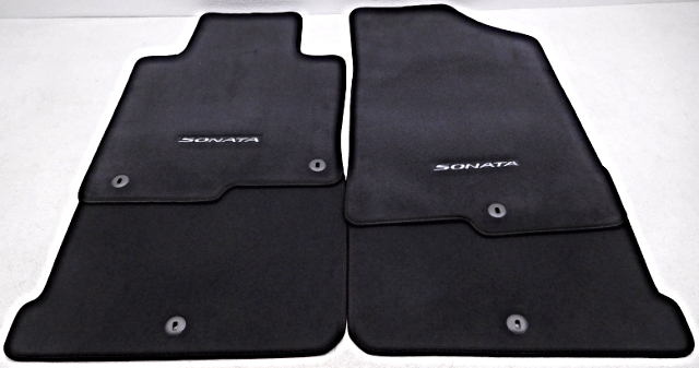 OEM Hyundai Sonata 4piece Floor Mat Set Black Carpet