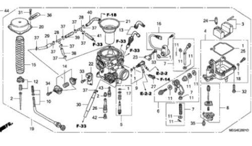 Carburetor Repair Kit for 2004-2007 Honda Shadow Aero