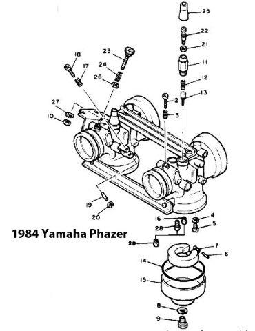 Yamaha 1984-1985 Phazer PZ480H Snowmobile Carburetor