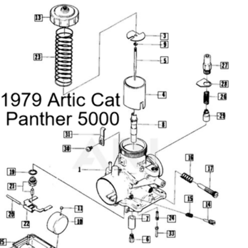 Vintage Arctic Cat Snowmobile VM34-169 Carburetor Rebuild
