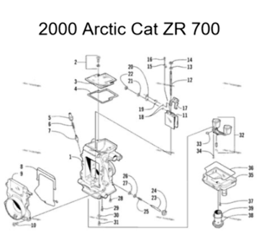 Arctic Cat 1999-2000 ZR700 ZR700 LE Snowmobile Carburetor