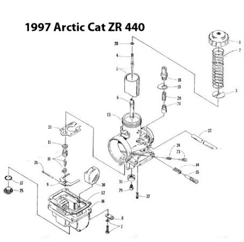 1997 Arctic Cat Zr 440 No Spark