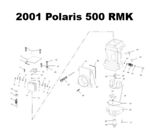 Polaris RMK 500 XC 500 Snowmobile Carburetor Rebuild Kit