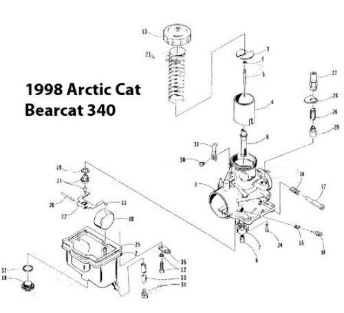 Arctic Cat Bearcat 340 Snowmobile VM32-290 Carburetor