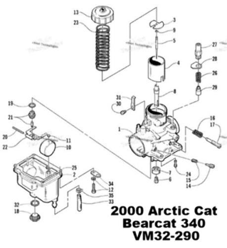Arctic Cat Bearcat 340 Jag 340 Lynx 340 Snowmobile