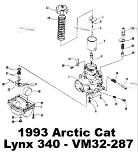 Arctic Cat 340 Carburetor
