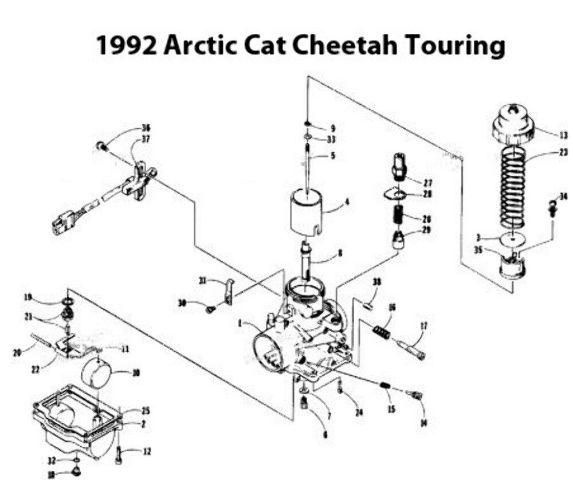 Arctic Cat Cougar 440 Snowmobile VM34-397 Carburetor