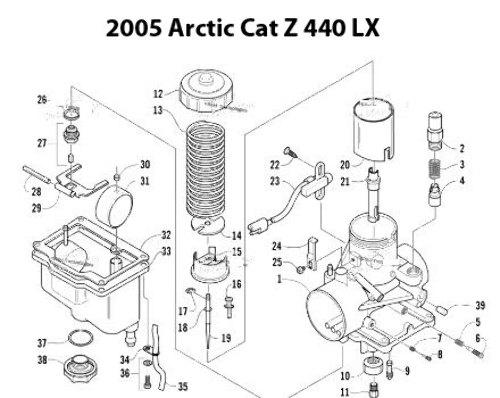 Arctic Cat Snowmobile Carburetor Cleaning