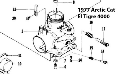 Arctic Cat 500 Carburetor Rebuild Kit