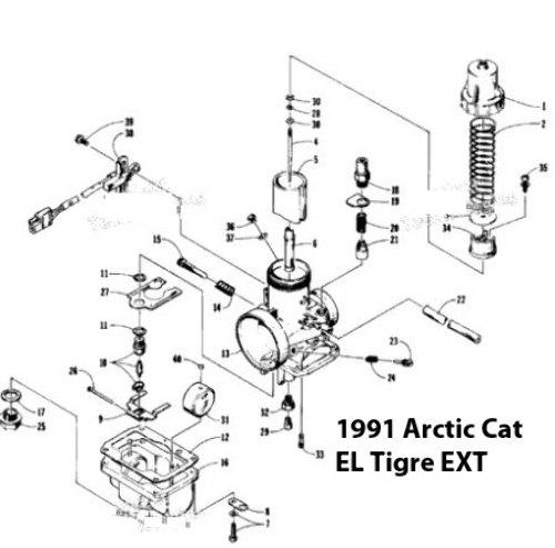 1991 Arctic Cat El Tigre Ext